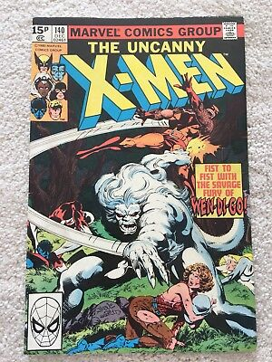 Uncanny X-Men #140 - Wendigo Vs Wolverine High Grade Vf/nm - John Byrne Art