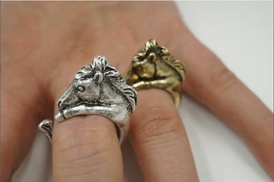Very Unique Beautiful Horse Head Wrapped Open Style Adjustable Ring