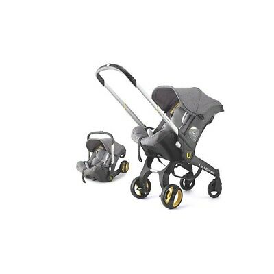 Doona Infant Car Seat Travel Stroller Grey with Latch Base.
