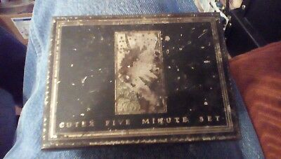 "Vintage Cutex "" Five Minute Set"" 1920s/1930s Nail Polish Square Tin W/HINGED LID"