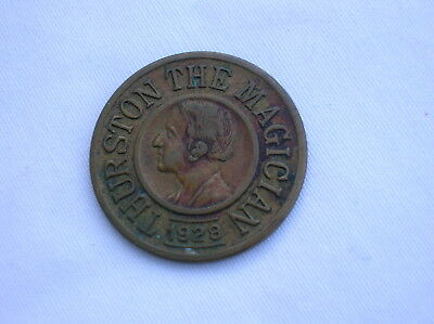 1928 Thurston The Magician Good Luck Token Coin Charm-Never Fails