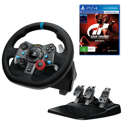 Logitech G29 Driving Force Racing Wheel with Gran Turismo Sport Bundle NEW