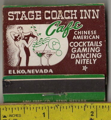 vintage book front strike matches the Stage Coach Inn Cafe & Casino Elko, Nev.