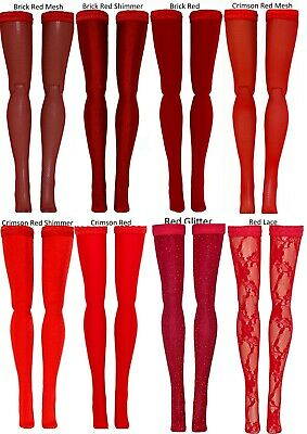 """Red Doll Stockings for 15-16"""" Fashion Dolls - Tyler Ellowyne Diana Sybarite"""