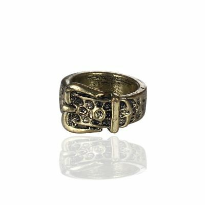 QUALITY TRENDY Antique Bronze Style Belt Buckle Finger Ring