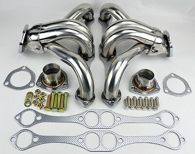 Chevy Small Block SB V8 Stainless Hugger Headers 262 265 283 305 327 350 400