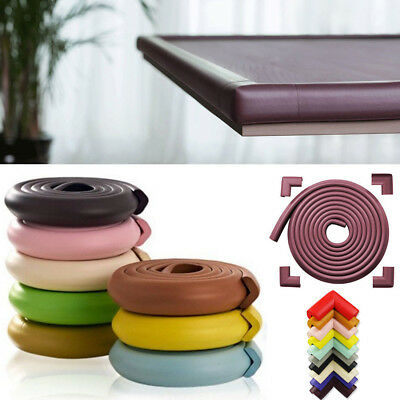 EXTRA THICK! Baby Table Desk Edge Guard Protector/Bumpers +4 Corners Cushion Set