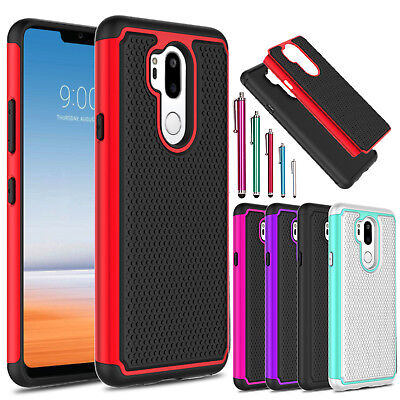 For LG G7 ThinQ / G7+ ThinQ Shockproof Hybrid Hard Slim Rubber Phone Case Cover