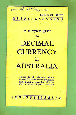 #d371. 1964 Australian Coin Booklet On Decimal Currency Issue In 1966