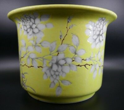 Fine Old Chinese 19th/20th Republic Period Porcelain Famille Jaune Planter Art