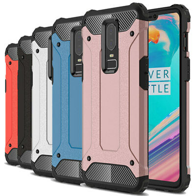 Dooqi Shockproof Tough Hybrid Bumper Armor Protective Cover Case For OnePlus 6