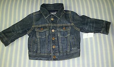Baby boy BabyGap blue denim jacket size 6-12 months