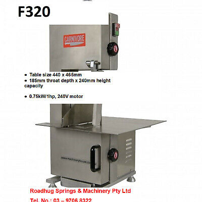 MEAT & BONE BAND SAW – stainless steel (HAFCO) Part No.: F320 TOTAL HEIGHT 860MM