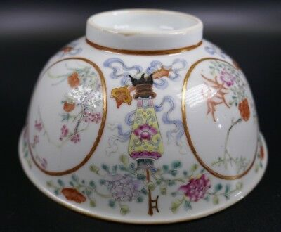 Fine Old Chinese 19th/20th Republic Period Porcelain Bowl Famille Rose #3