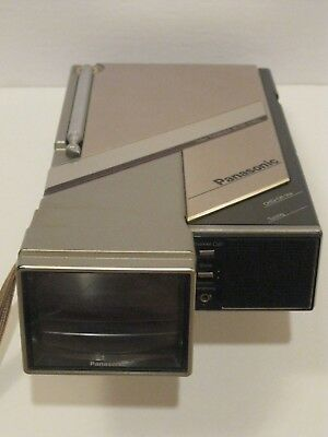 Very Rare Panasonic Color Travelvision Model PC-101 Portable Television Working