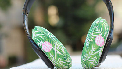 Beat Kicks Washable Headphone Covers - Palms Design - New In Original Package!