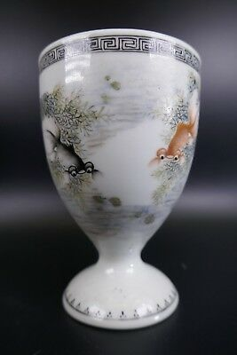 Fine Old Chinese 19th/20th Republic Period Porcelain Glass Vase Bowl Signed