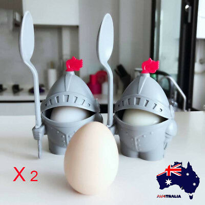 AU Egg Cup Holder With Spoon Detachable Egg Rack Stand Knight Design for Kids