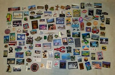 Lot of 125+ Assorted Tourist Souvenir Kitchen Refrigerator Fridge Magnets