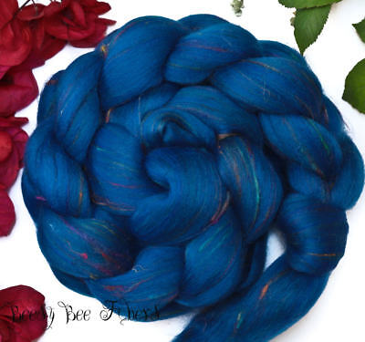 TALISMAN - Wool Roving Signature Custom Blend Merino Silk Bamboo Combed Top 4 oz