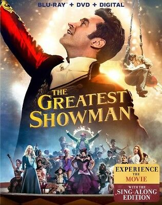 The Greatest Showman (Blu-ray Disc + DVD + Digital) BRAND NEW & FACTORY SEALED!!