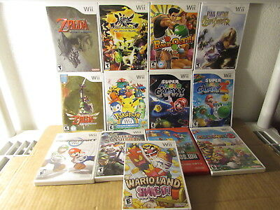 13 Nintendo Wii Games Zelda Mario Kart Super Mario Galaxy 2 Mario Party 8 More
