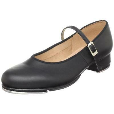 Bloch 9574 Womens Black Leather Mary Janes Solid Tap Shoes 8 Medium (B,M) BHFO