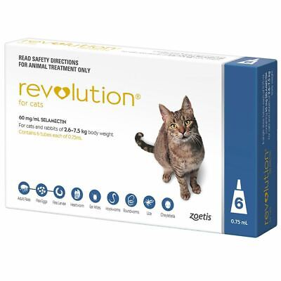 Revolution for Cats 2.6-7.5kg - Blue 6 Pack