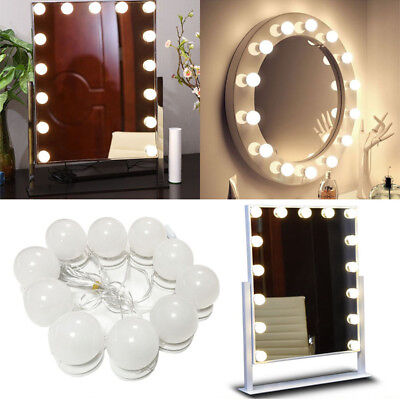 LED Vanity Lighted Hollywood Makeup Mirror with Stage Beauty Mirror Lights
