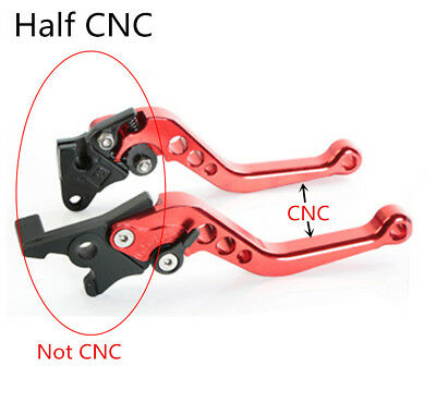 2 Pcs CNC 6 Adjustable Positions Brake Clutch Levers Set Gold Tone for Honda GY6