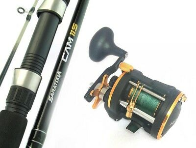 SARATOGA 6'6 15kg Game Boat Trolling Jigging Overhead Fishing Rod and Reel Combo
