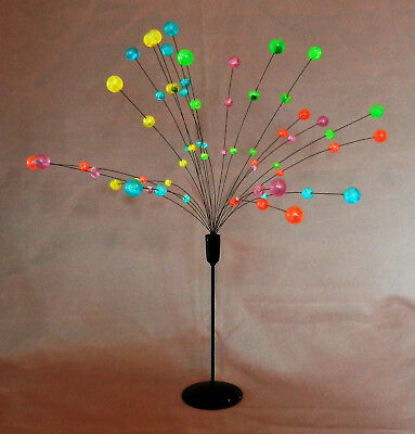 Retro Vintage Mid Century Standing Mobile Coloured Plastic Balls on swaying wire