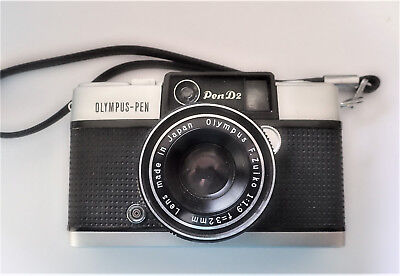PEN D2 Olympus Half frame Camera. Zuiko 1.9  32mm Lens  - excellent condition