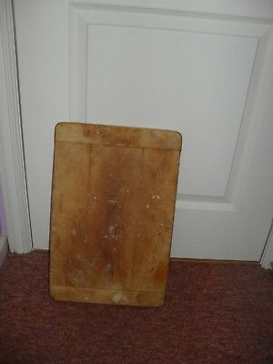 """Vintage Bread Chopping Board 18"""" by 12"""" by 0.75"""" from defunct Bakers"""