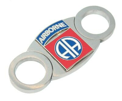Old Road US Army 82nd Airborne Stainless Cigar Cutter Carry Pouch