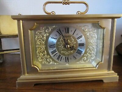 Vintage Solid Brass Unusual Carriage Clock Superb Condition