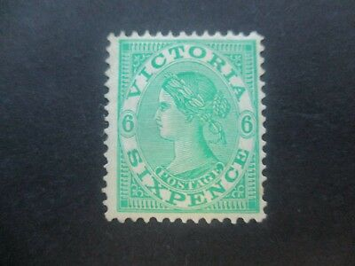 Victoria Stamps: 1901 6d Green  Mint   (m92)