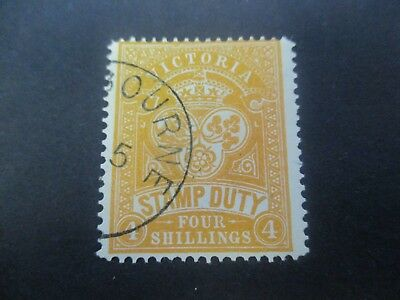 Victoria Stamps: 4/- Stamp Duty CTO   (R120)