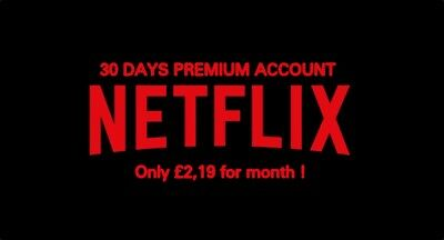 Netflix Private Not Shared 4K Uhd 4 Screens 30 Days Warranty Fast Shipping