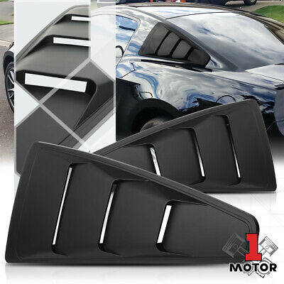 2Pcs 1//4 Quarter Side Window Scoop Louvers Trim For 15-18 Ford Mustang Black