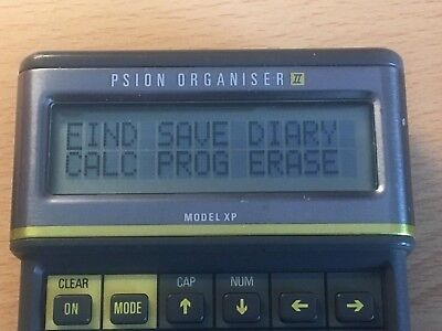 Psion Organiser II Model XP with PsiWin Discs Set Used Working