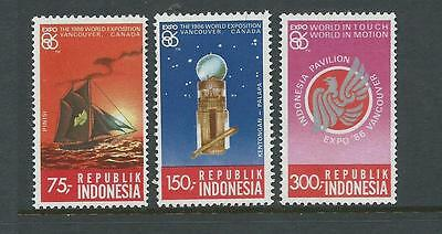 1986 World Expo Vancouver Canada set 3 stamps complete MUH/MNH