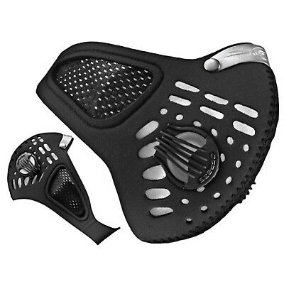 Respro Sportsta Commuter Motorcycle Face Mask For Pollen Medium Or Large - Black