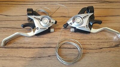 Shimano L3 x R7 Shifter/Brake Lever Combo (21 Speed) Silver V-Brake