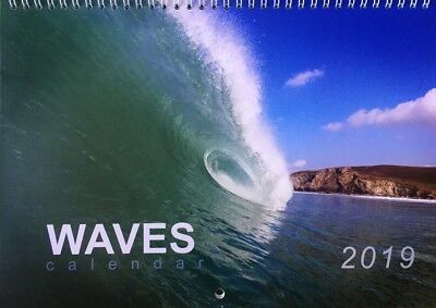 Waves calendar 2019, Cornish Surfing, Seascape & Storm photos from Cornwall