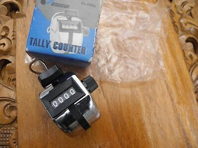 Vintage SL-500L Quasar Metal Tally Counter NEVER USED , BOXED,  Golf Stroke