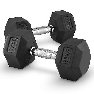 2X Halteres Courts Capital Sports Hexbell Dumbbell 30 Kg Total 60Kg Fitness Pro