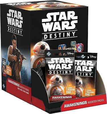 Star Wars Destiny TCG: Awakenings Display Box (36 Booster Packs) Gravity ... New