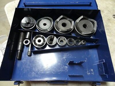 """Current 1/2"""" to 4"""" Hydraulic Knockout Punch Driver Set Greenlee"""