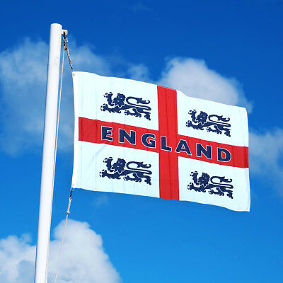 English England Flag 5x3ft Eyelets Large St George Cross Russia World Cup 2018